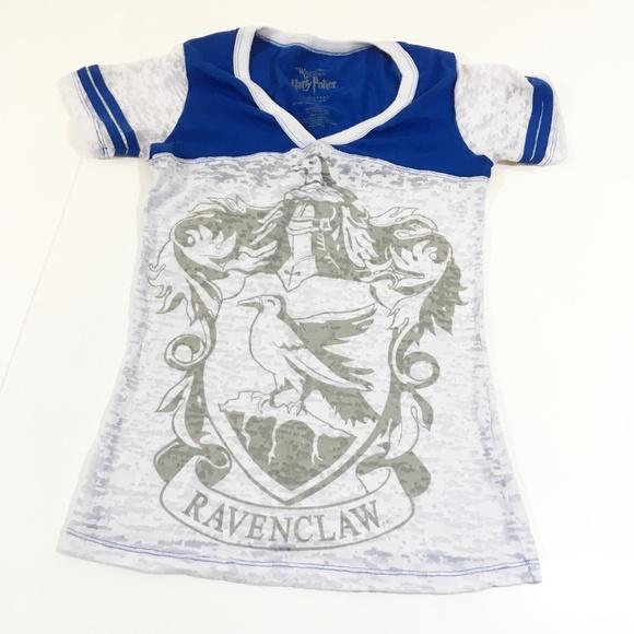97c9bad199a9 Universal Tops | Harry Potter Ravenclaw Ladies Burnout Tshirt Xs ...